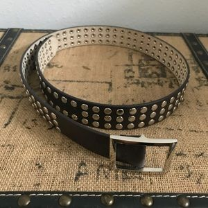 Accessories - Black Leather Studded Belt Sz S